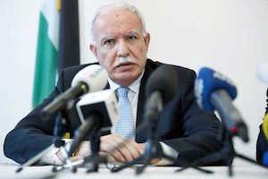 El canciller de Palestina, Riad Al Malki.