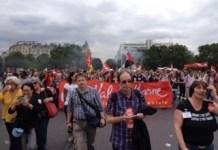 París, 28 de junio de 2016: manifestación contra la reforma laboral en Francia.