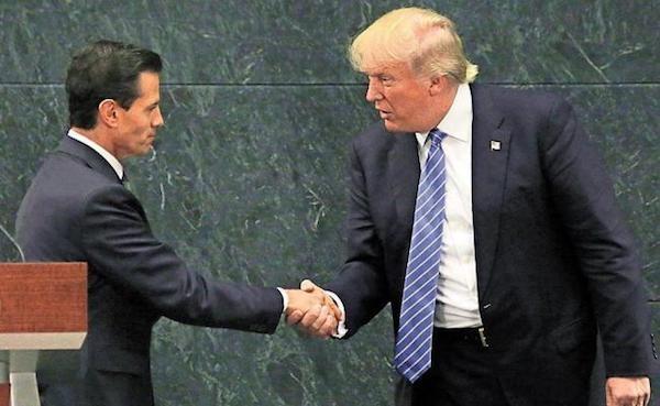 Peña Nieto y Donal Trump en su encuentro en México en 2016
