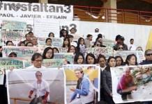 Movilizaciones por los periodistas secuestrados en la frontera entre Ecuador y Colombia