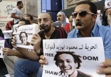 Protesta en Egipto en favor de 'Shawkan'