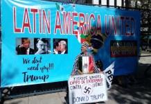 Protestas en México contra las políticas anunciadas por Donald Trump. Foto de Emilio Godoy/IPS