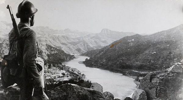 El río Ebro hace ochenta años