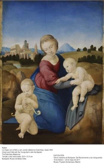 Foto: Rafael Sanzio, La Virgen con el Niño y San Juanito