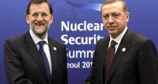 Los presidentes Rajoy y Erdogan en una cumbre mundial