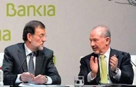 Mariano Rajoy con Rodrigo Rato en Bankia