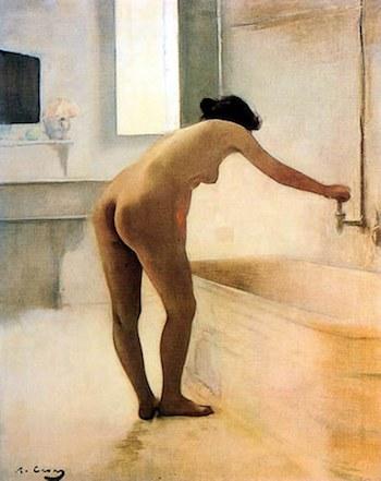 Ramon Casas, en el baño. Paris, 1895