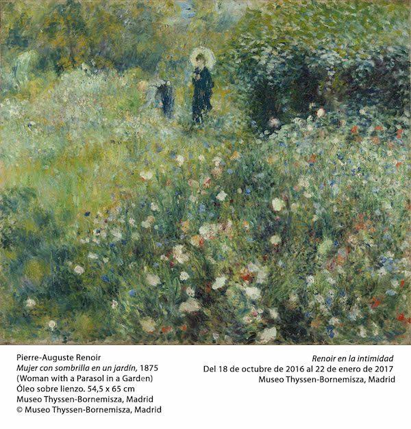 Renoir: mujer con sombrilla