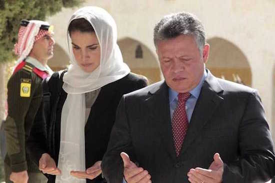 Los reyes Abdalá y Rania de Jordania