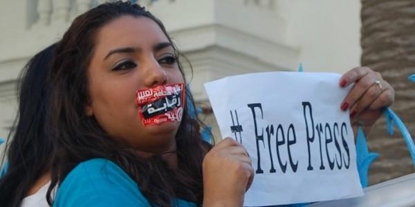 Protesta por la libertad de prensa en Marruecos