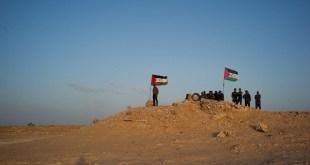 Fuerzas saharauis cercanas a la carretera del Guerguerat