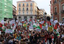 Manifestación en Madrid de apoyo al pueblo saharaui, el 12 de noviembre de 2016