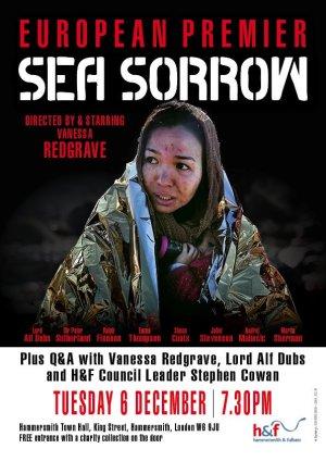 """Póster de presentación del filme """"Sea of Sorrow"""" dirigido por Vanessa Redgrave"""