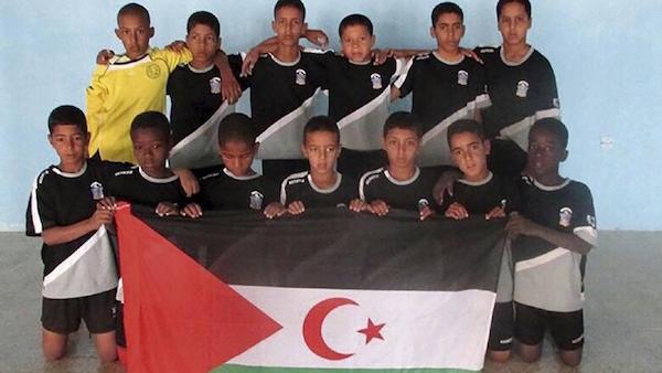 Selección alevín del Sahara participante en el Cotif.