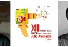 Adán Aliaga y Alfonso Amador, premio SGAE de Guion Julio Alejandro