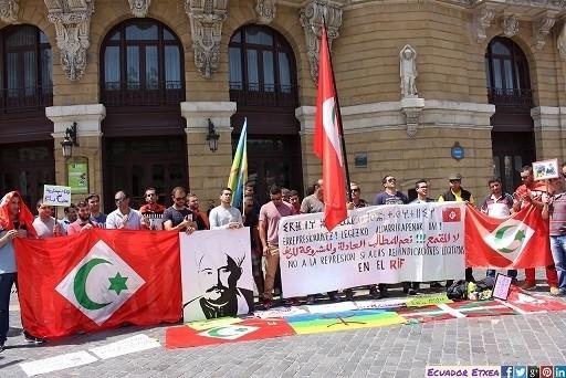 Concentración solidaria con el Rif celebrada recientemente en Bilbao.