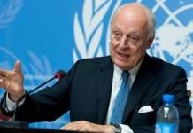 Staffan de Mistura, mediador de la ONU para Siria. Foto: @ItMissionUNNY