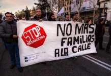 El colectivo del 15M se manifiesta en Torrejón de Ardoz contra los desahucios
