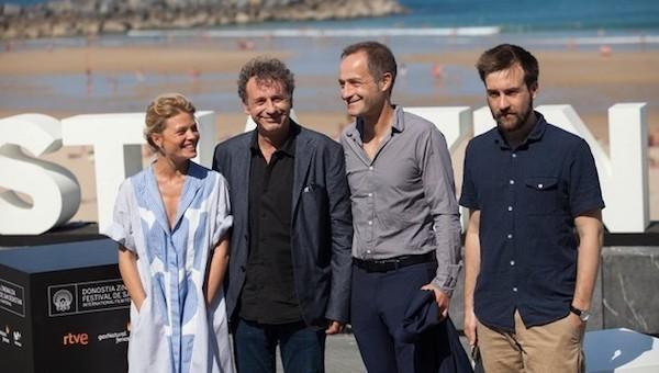 Melanie Thierry, Emmanuel Frinkiel, Grégoire Leprince-Ringet y Emmanuel Bordieu.