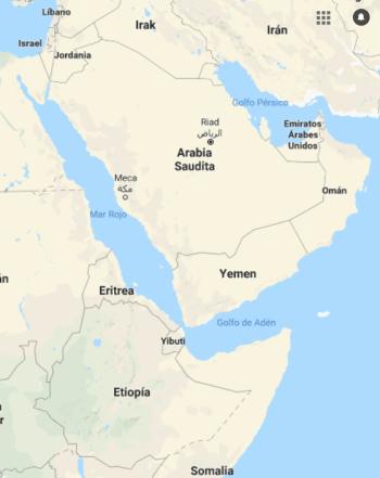 Yemen mapa