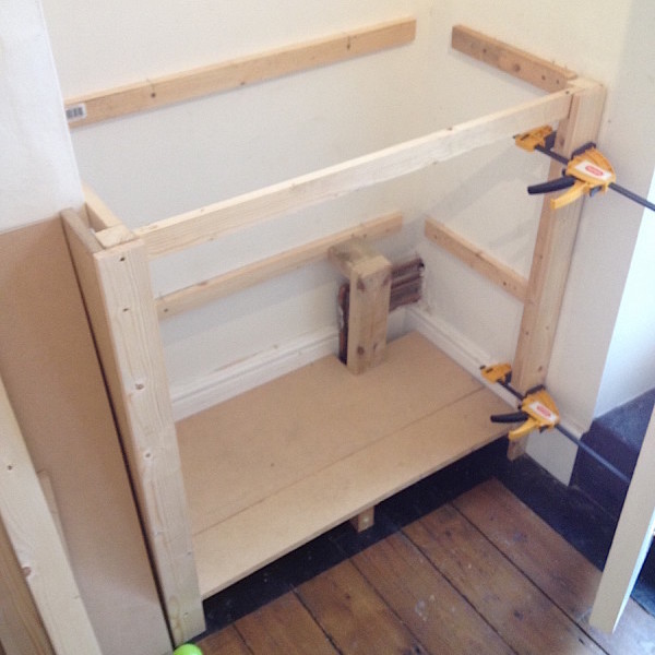 Building a victorian alcove cupboard part 1 period terrace for Granite a frame plans