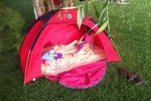 tent sandpit