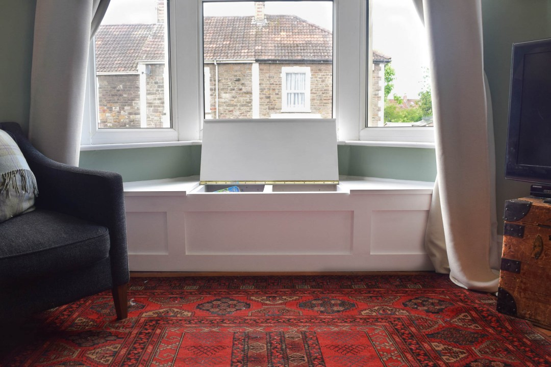 How to build a victorian bay window seat with storage - Window seat bay window ...