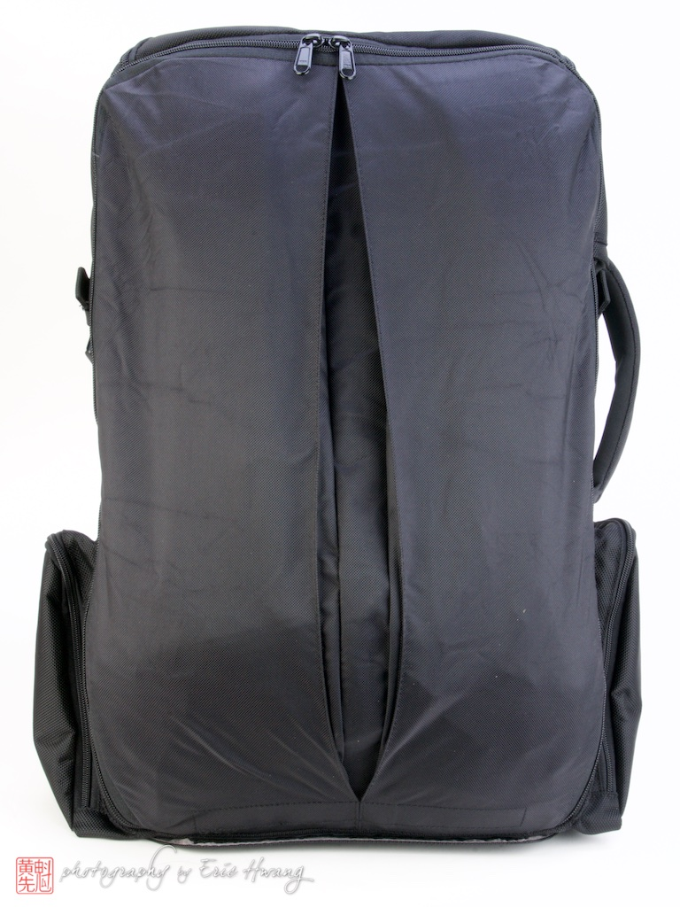 Rear of pack with straps covered