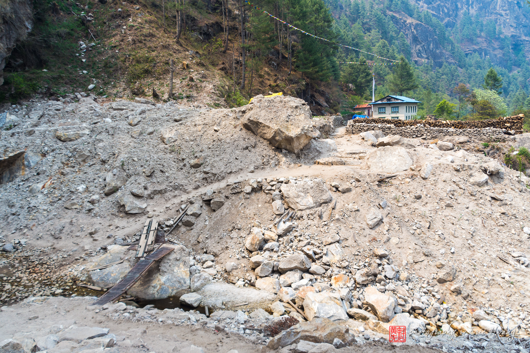 Landslides have changed the trekking routes