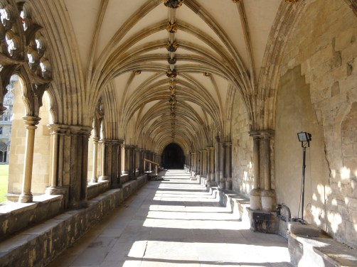 The largest cathedral cloister in England and very peaceful it is too