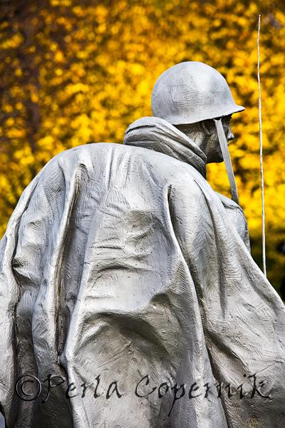 The alreay impressive memorial looks breathtaking during the peak days of fall, Washington DC