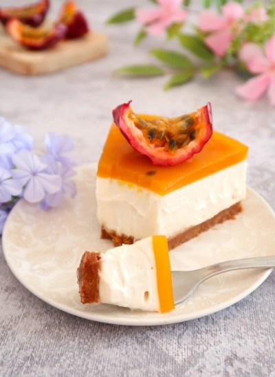 """""""Cheesecake"""" aux fruits de la passion {vegan}"""