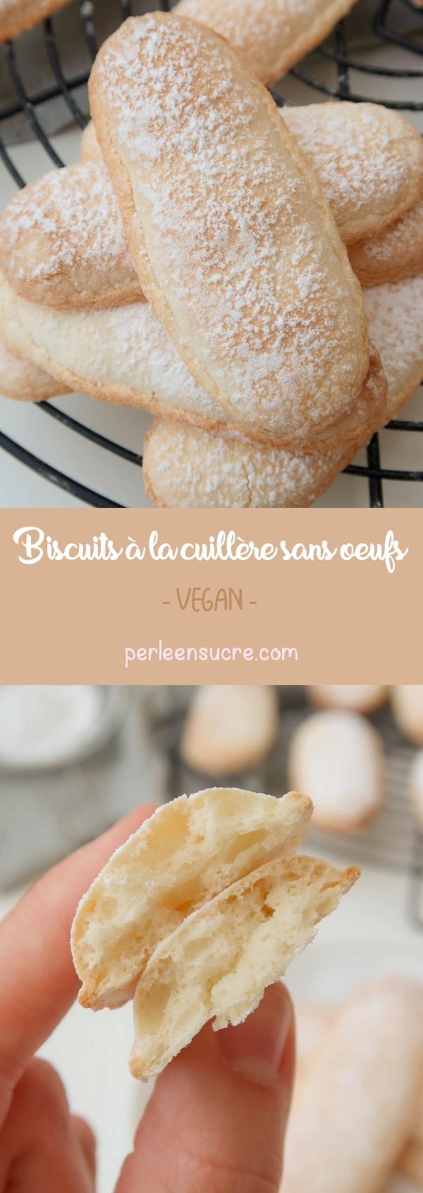 Biscuits à la cuillère sans oeufs {vegan}