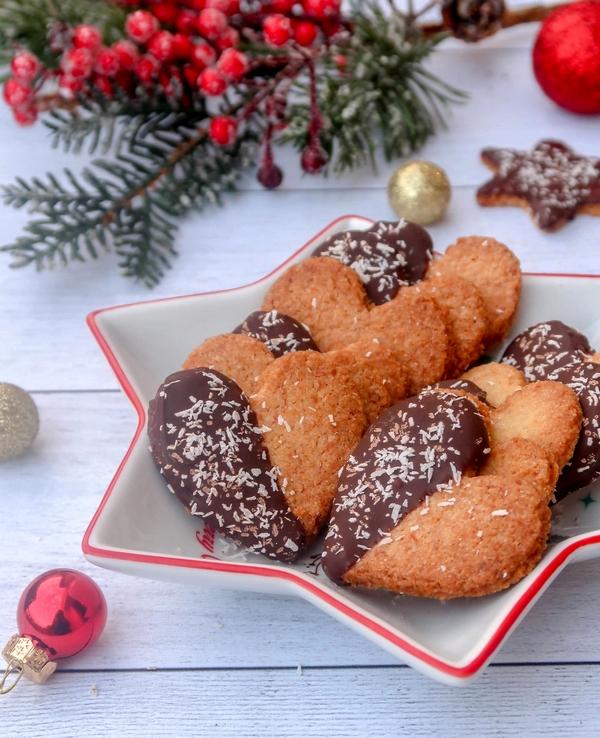 Biscuits sablés noix de coco chocolat {vegan}