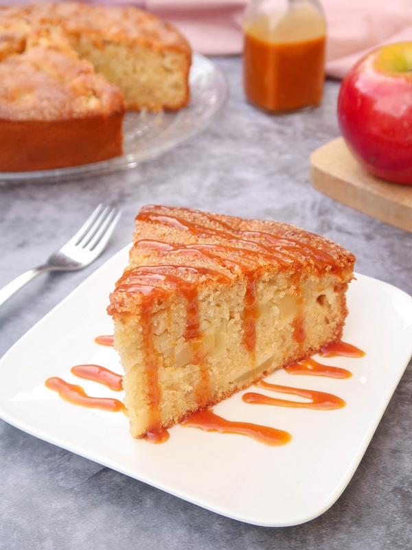 Gâteau moelleux aux pommes {vegan}