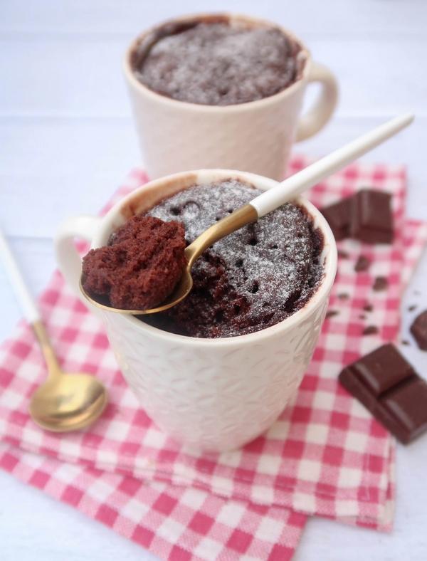 Mug cake moelleux au chocolat {vegan}