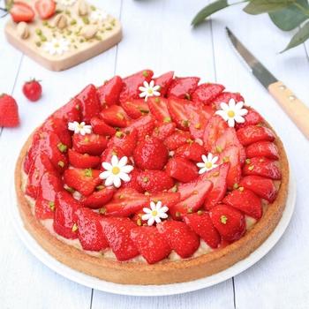 tarte fraise amande