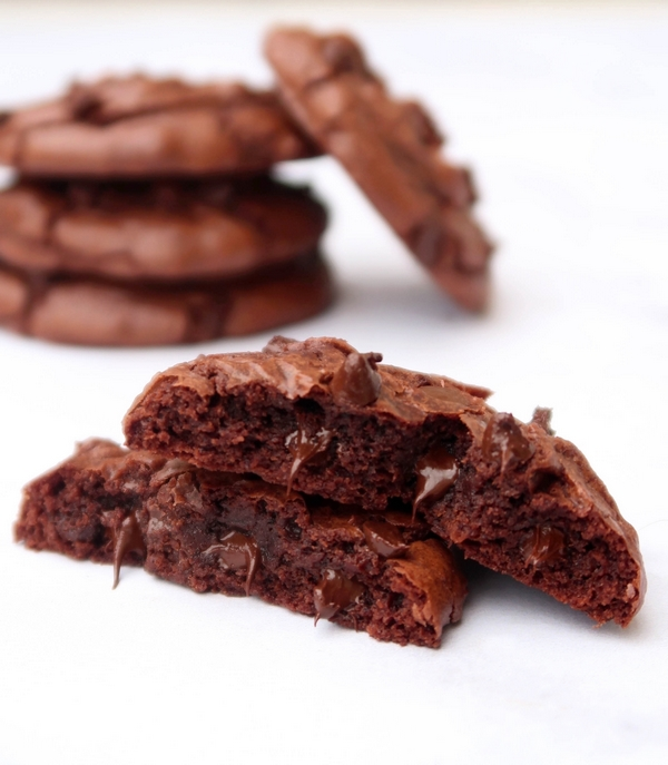 Cookies façon brownie au chocolat {vegan}