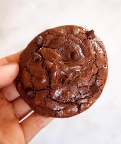 Cookies façon brownie au chocolat {vegan}