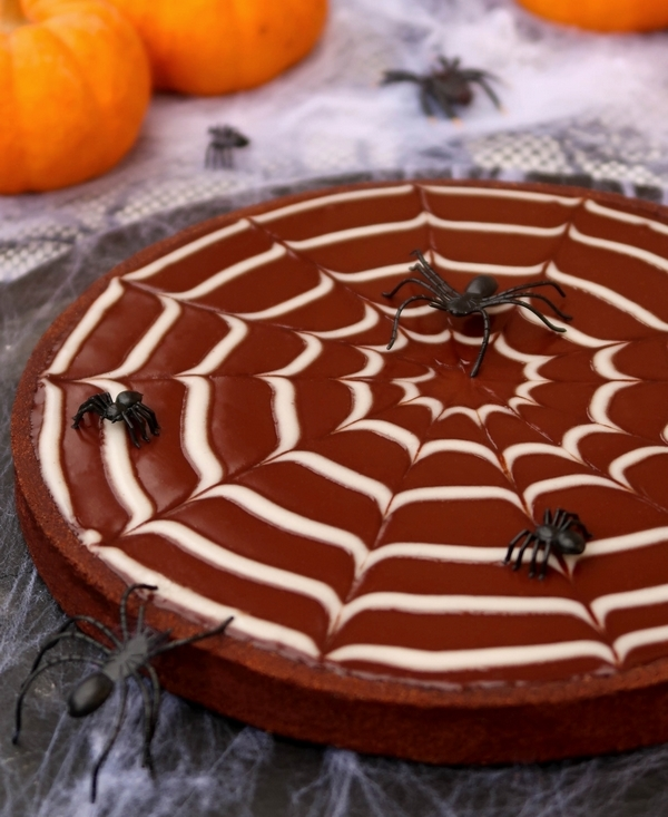 Tarte toile d'araignée au chocolat {Halloween}