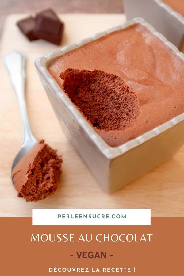 Mousse au chocolat {vegan}