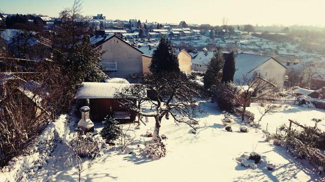 Draußen gab es ein echtes Winterwonderland zu bestaunen...in der Sonne sah das wirklich wunderschön aus.
