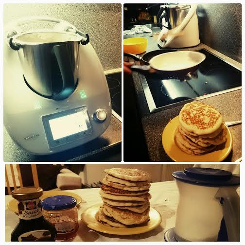 Der Perlenpapa wollte ein neues Pancake Rezept im Thermomix ausprobieren.