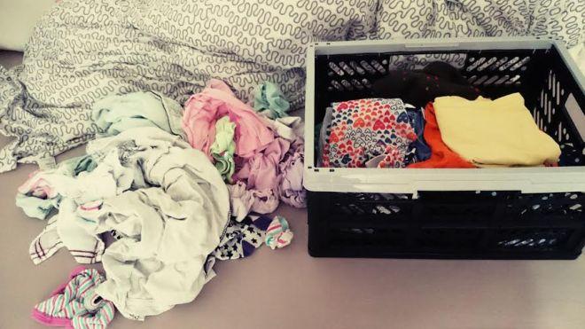 Dann wurden die Wäscheberge ein wenig bezwungen