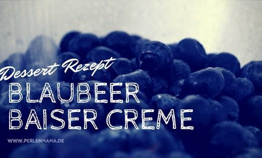 Dessert Blaubeer Baiser