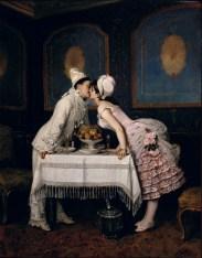 Auguste Toulmouche (1829-1890) - Le baiser