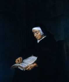 Gabriel Metsu - Vieille femme méditant