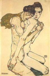 Egon Schiele - Les amants