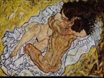 Egon Schiele - l'etreinte