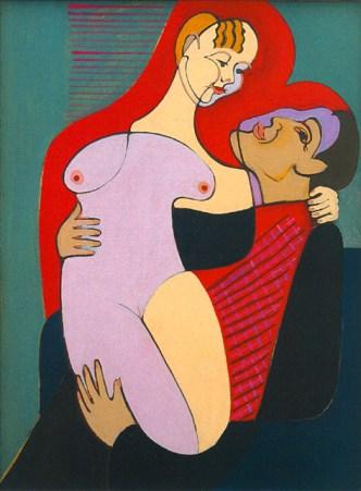 Ernst-Ludwig Kirchner (1880-1938)- Couple amoureux